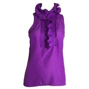 J.CREW Purple sleeveless button up
